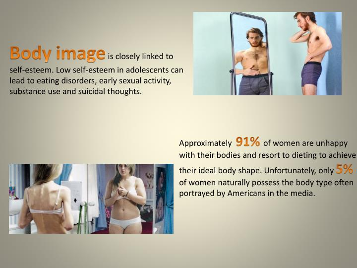 """essay on body image and media Essay on body image by lauren bradshaw march 29, 2010 example essays what is the average weight what is healthy  almond said that """"constant media pressures can lead to body dissatisfaction, which may result in distorted eating patterns""""  body image essay, body image research paper, body image term paper, english essays, example."""
