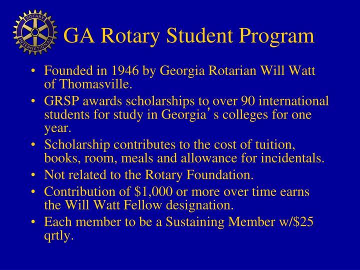 GA Rotary Student Program
