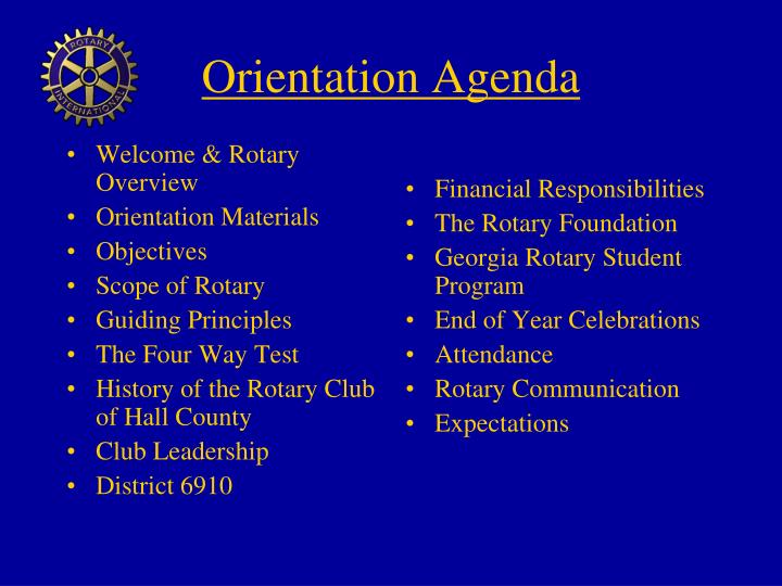 Welcome & Rotary Overview