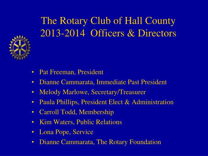 The Rotary Club of Hall County