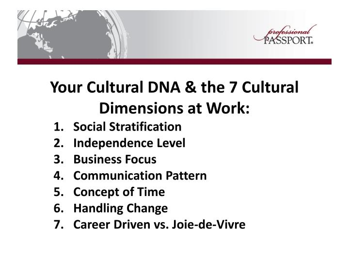 Your Cultural DNA & the 7 Cultural Dimensions at Work: