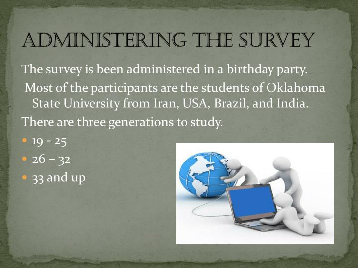 Administering the Survey