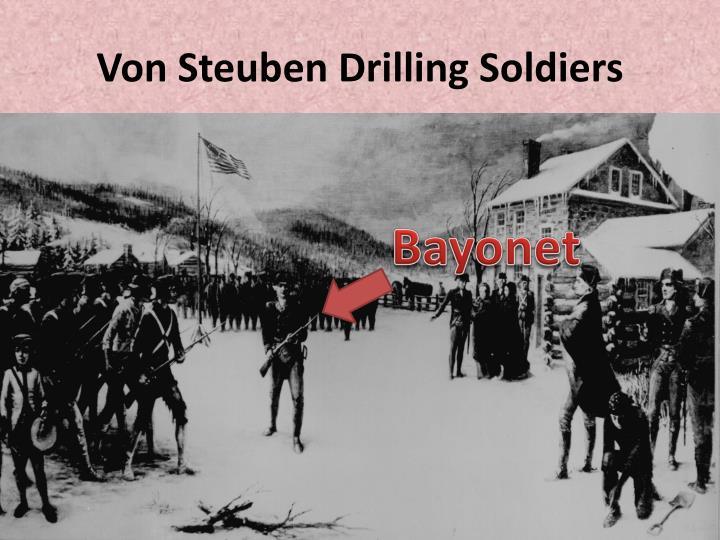 Von Steuben Drilling Soldiers