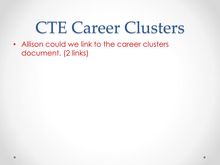 CTE Career Clusters