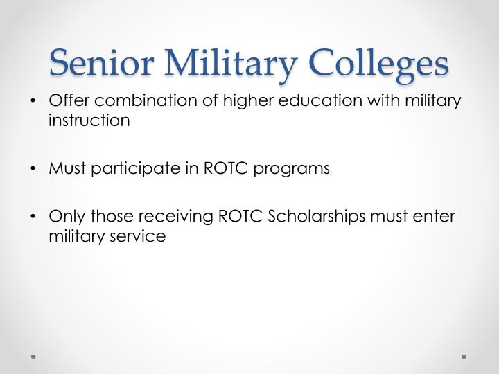 Senior Military Colleges