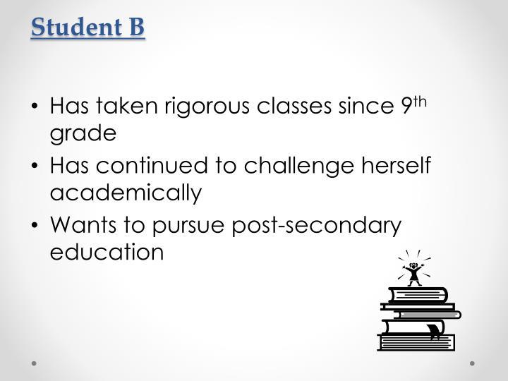 Student B