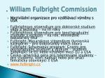 william fulbright commission