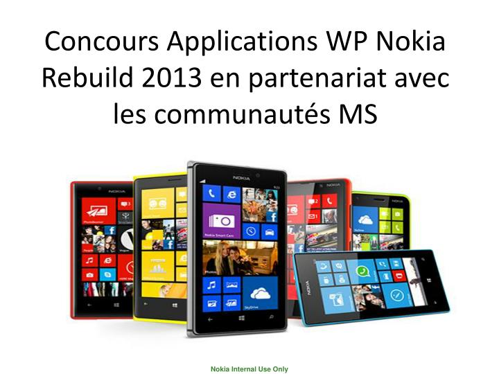 Concours Applications WP Nokia