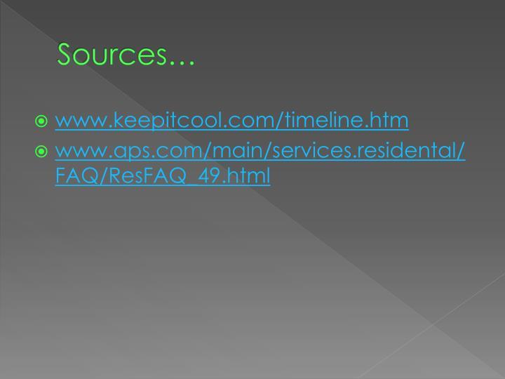 Sources…