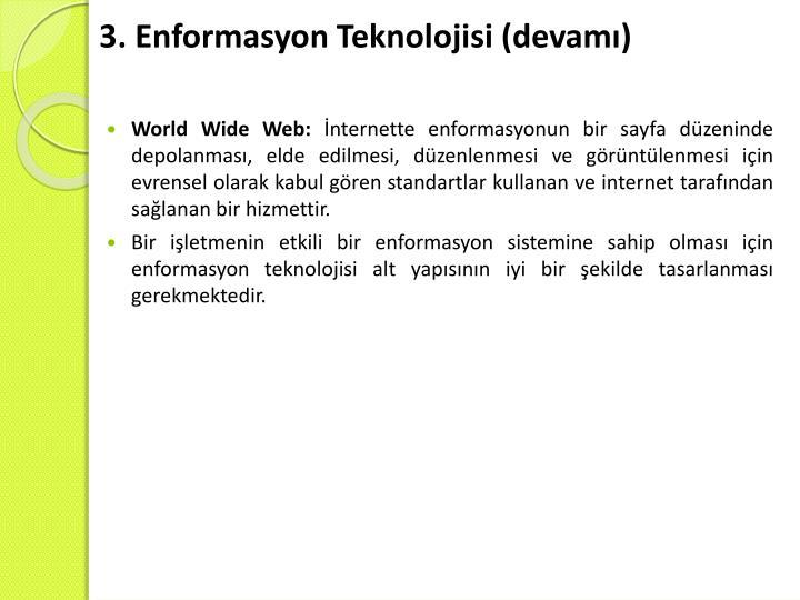 3. Enformasyon Teknolojisi (devamı)