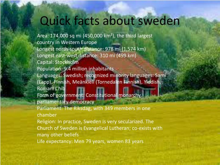 Quick facts about sweden
