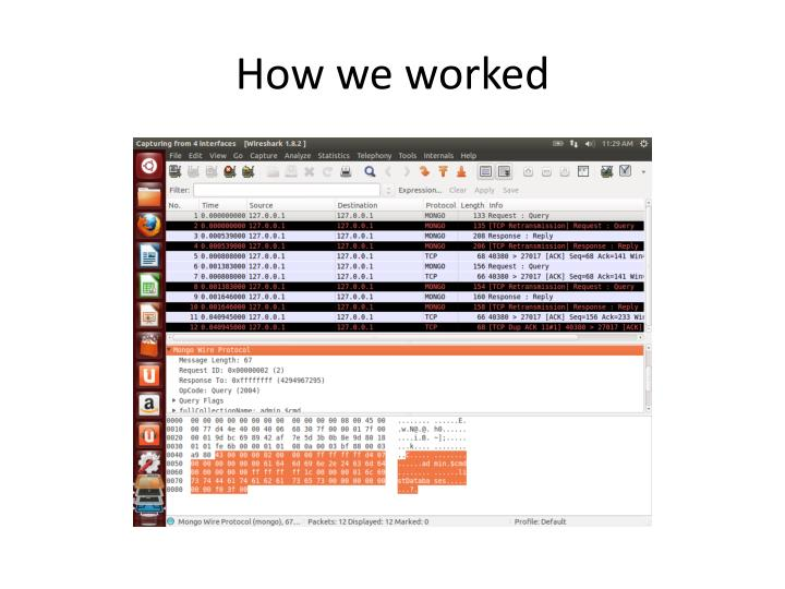 How we worked