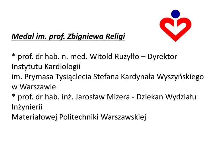 Medal im. prof. Zbigniewa