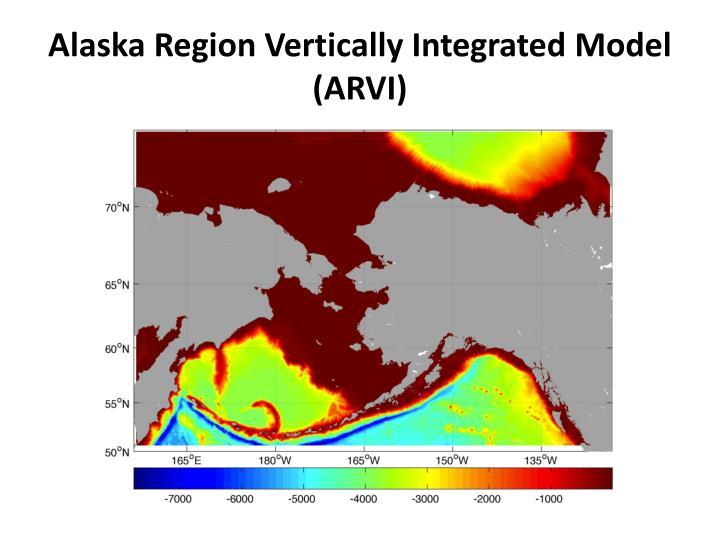 Alaska Region Vertically Integrated Model