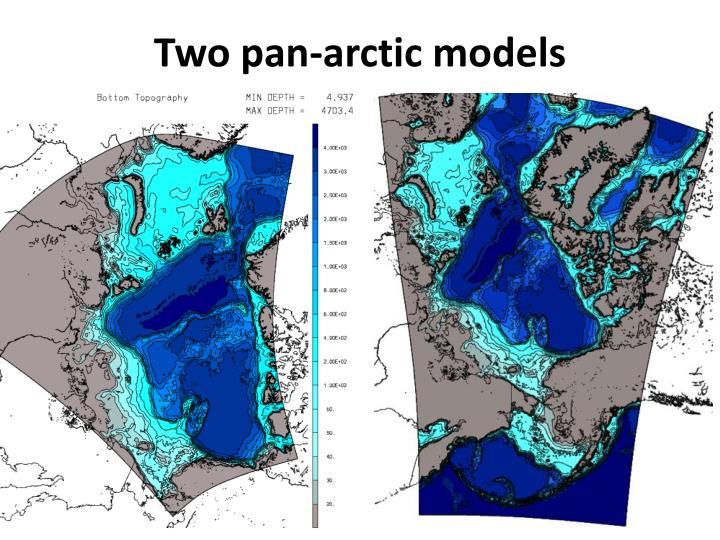 Two pan-arctic models