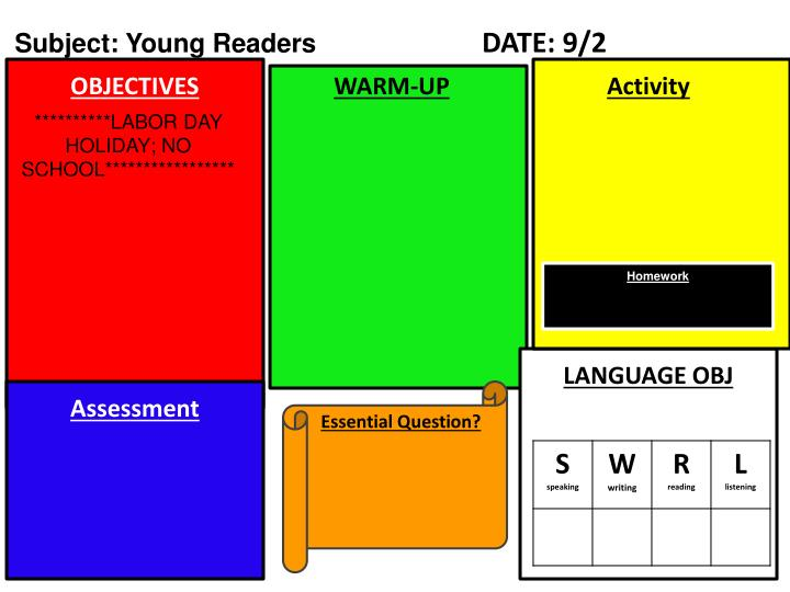Subject: Young Readers