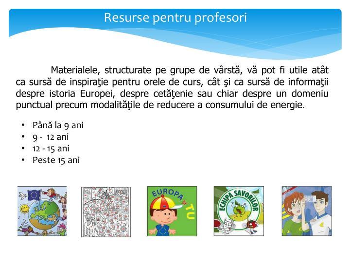Resurse pentru profesori
