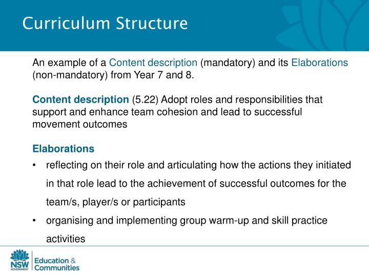 Curriculum Structure