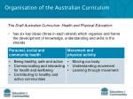 organisation of the australian curriculum3
