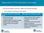organisation of the australian curriculum4