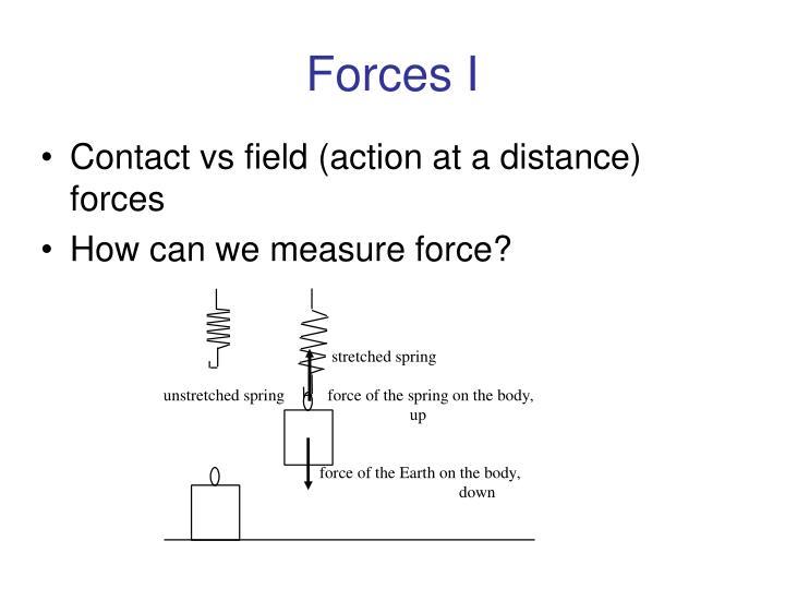 Forces I