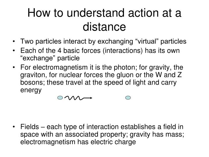 How to understand action at a distance