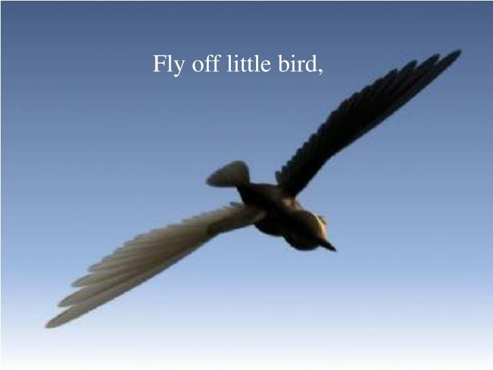 Fly off little bird,