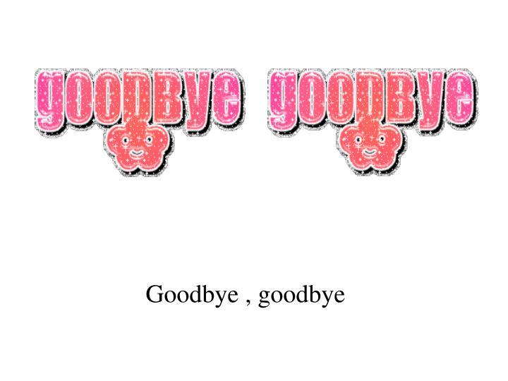 Goodbye , goodbye