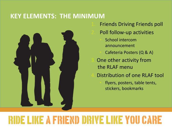 Key elements:  The minimum