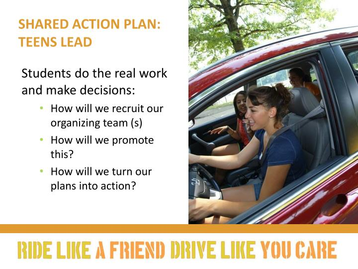 Shared action plan: Teens lead