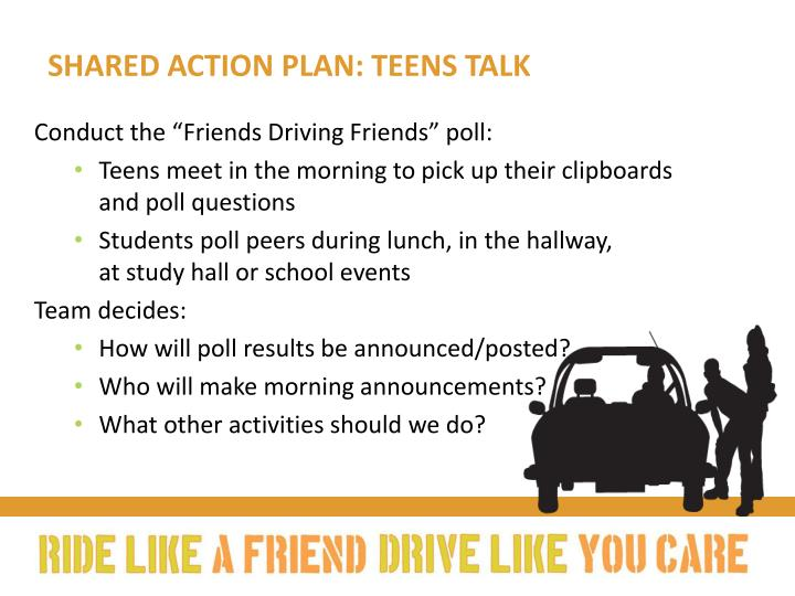 Shared action plan: Teens talk