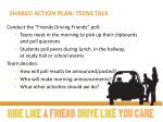 shared action plan teens talk