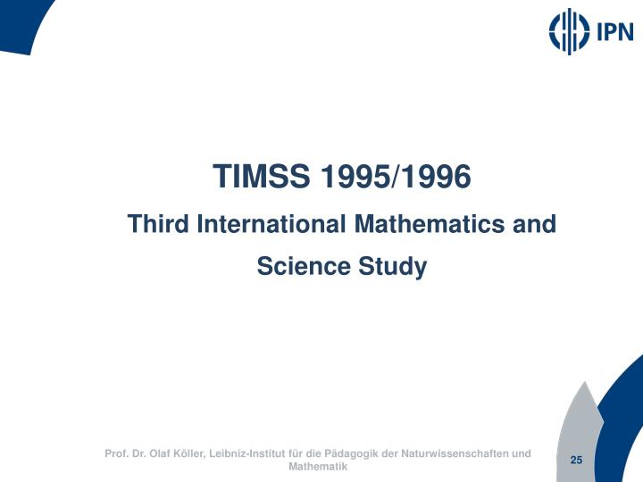 TIMSS 1995/1996