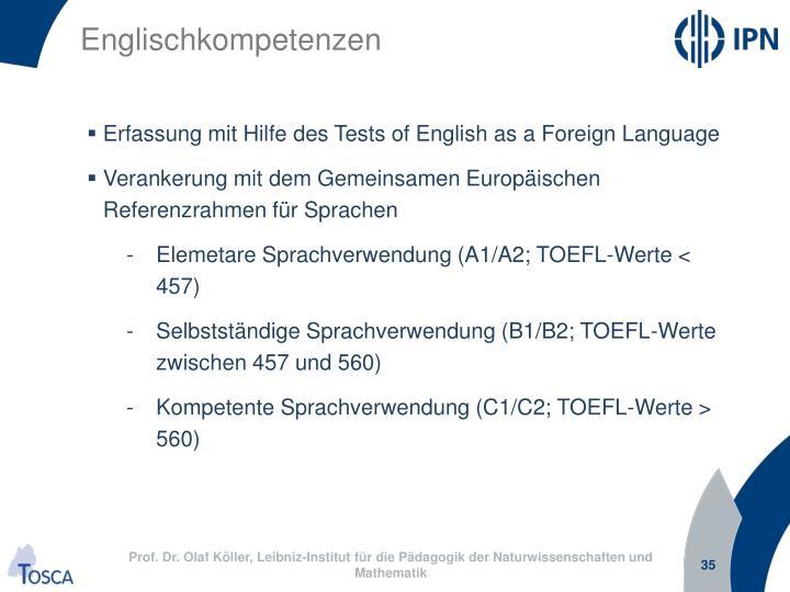 Englischkompetenzen