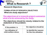 what is research7
