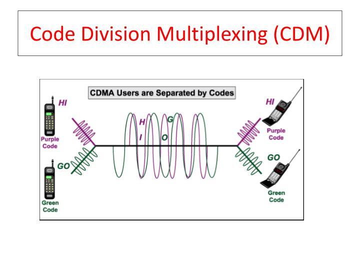 Code Division Multiplexing (CDM)