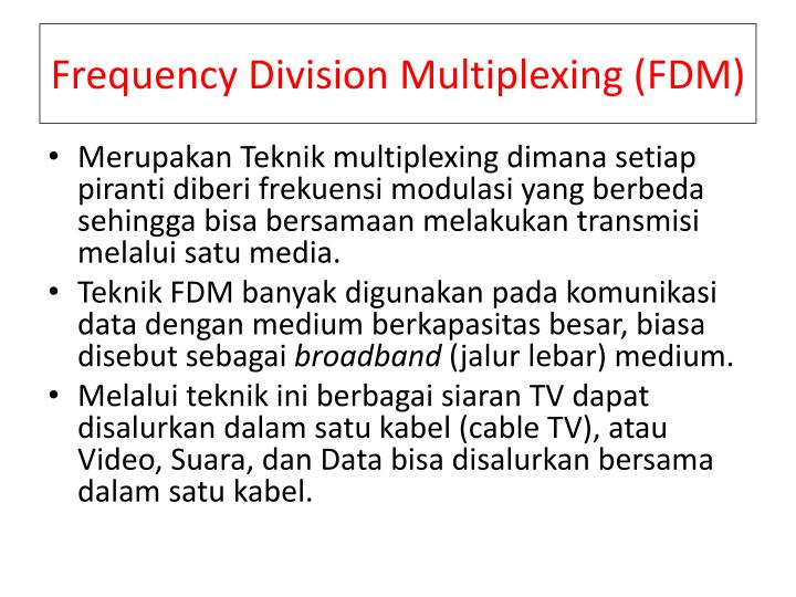 Frequency Division Multiplexing (FDM)