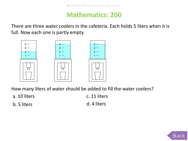 Mathematics: 200