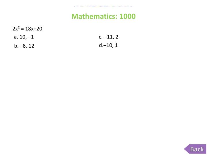 Mathematics: