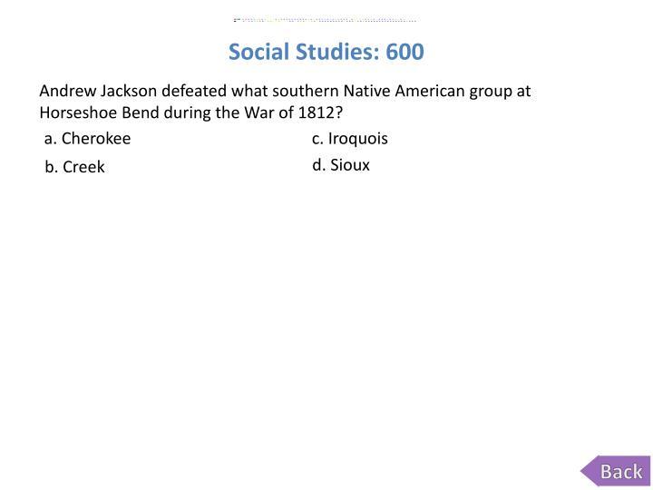 Social Studies: