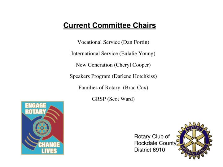 Current Committee Chairs