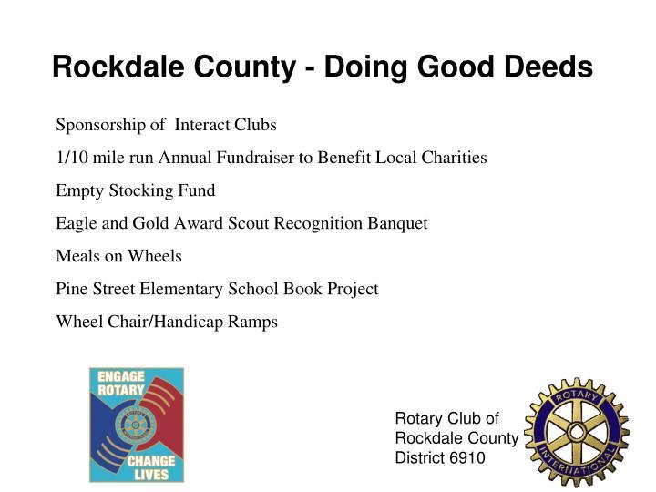 Rockdale County - Doing Good Deeds