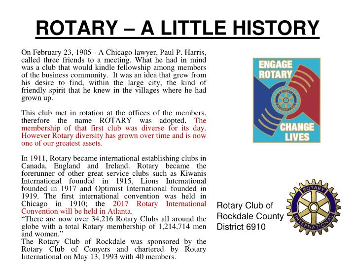 Rotary a little history