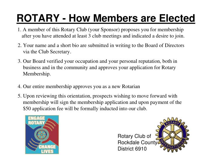 ROTARY - How Members are Elected