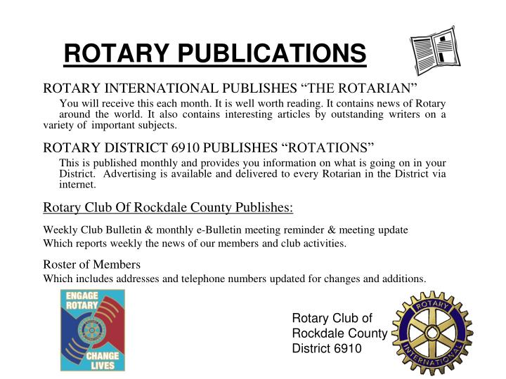 ROTARY PUBLICATIONS