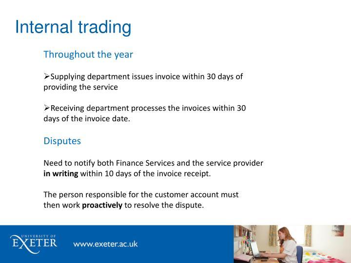 Internal trading