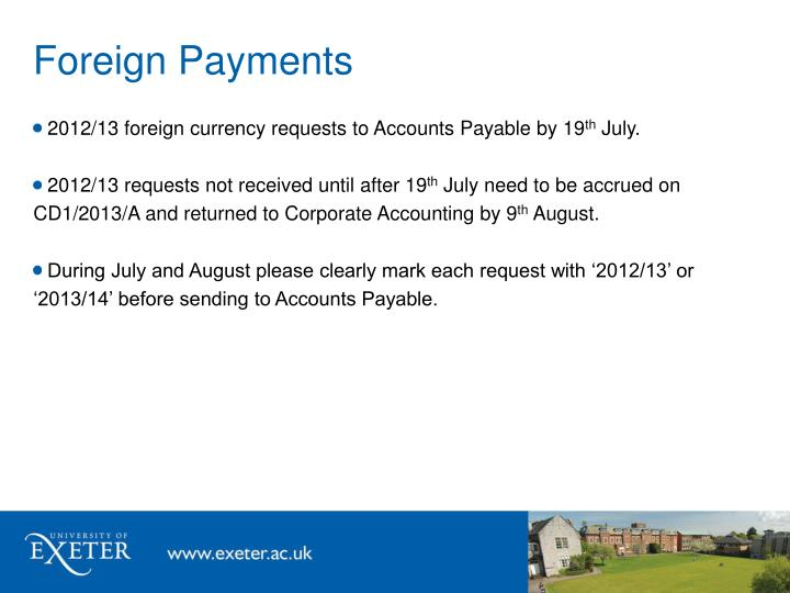 Foreign Payments