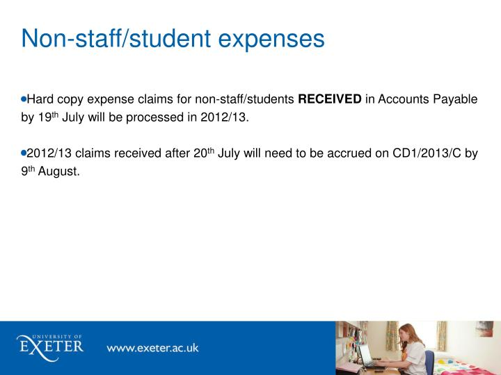 Non-staff/student expenses