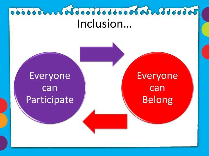 Inclusion…