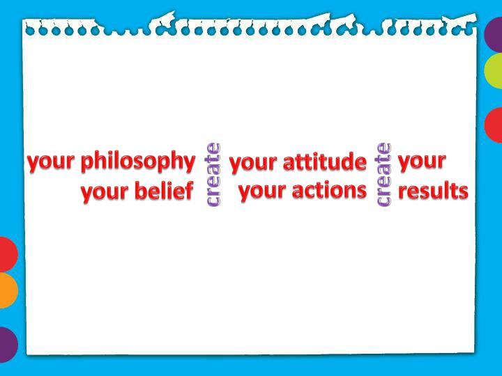 your philosophy